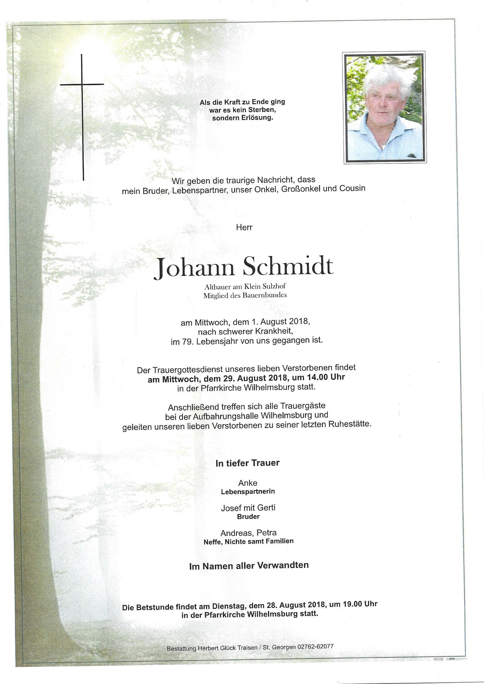 Pate von Johann Schmidt